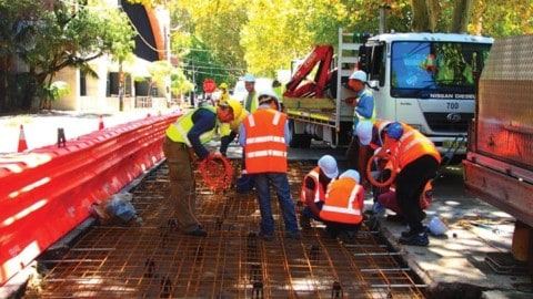 World-first green concrete trial