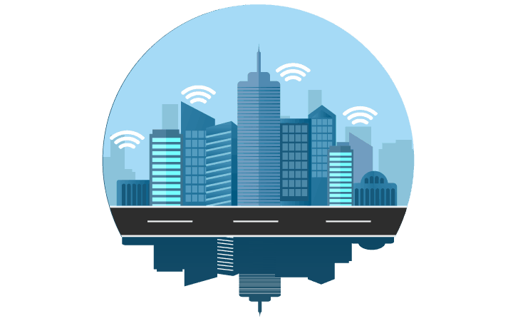 City infrastructure 5G Concept