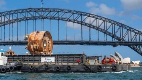 Sydney Harbour's first underwater metro tunnel now complete