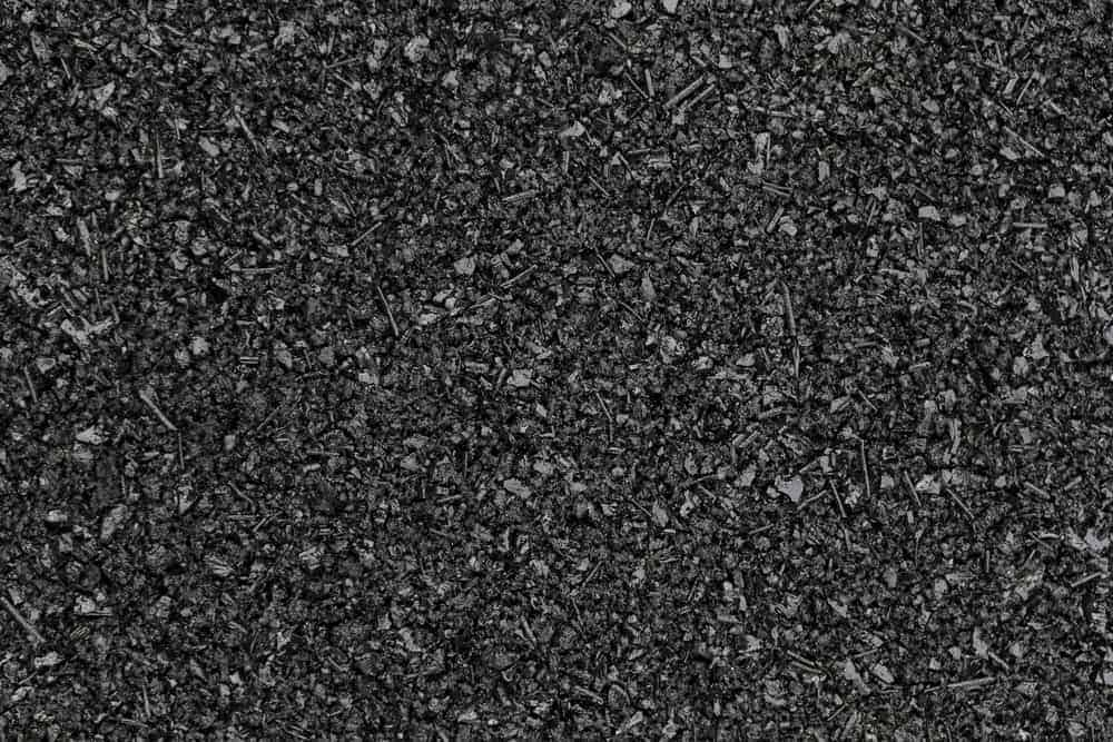 Close up image of asphalt road