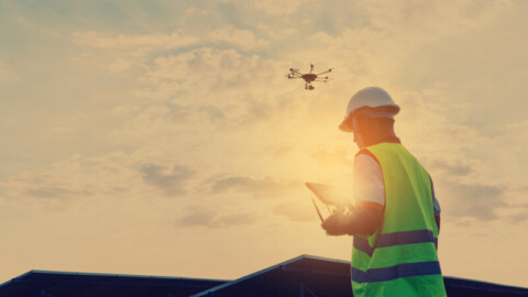 Drones used in landfill environmental testing project