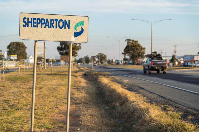 Shepparton entrance sign