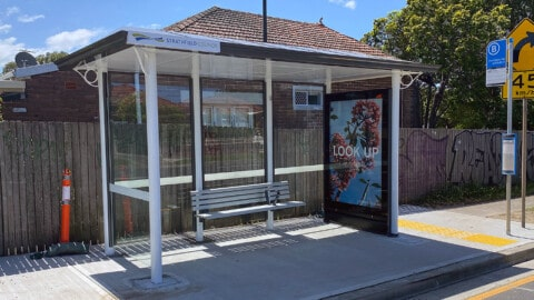 Smart bus shelters come to Sydney suburb